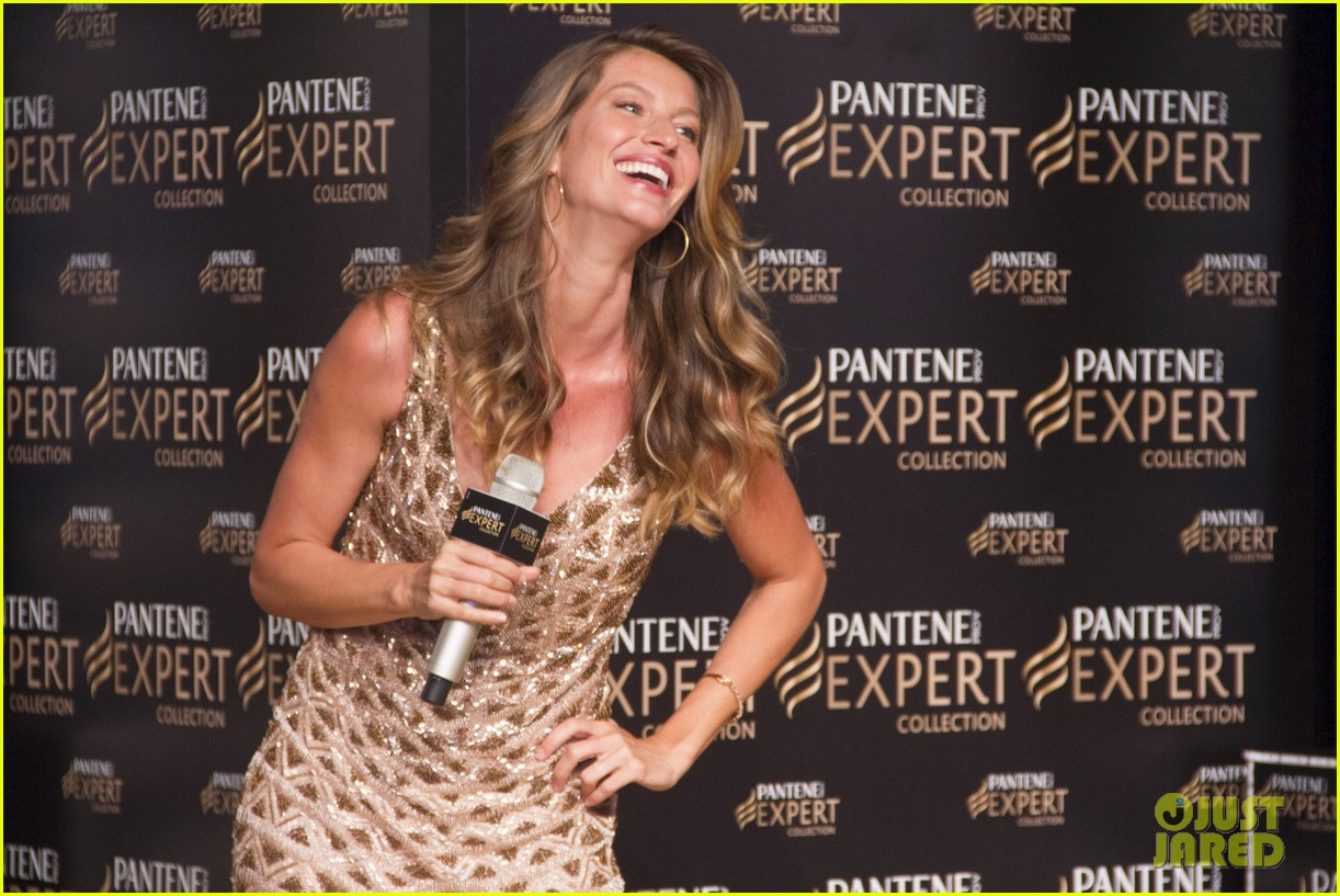 gisele bundchen pantene expert photo call 02