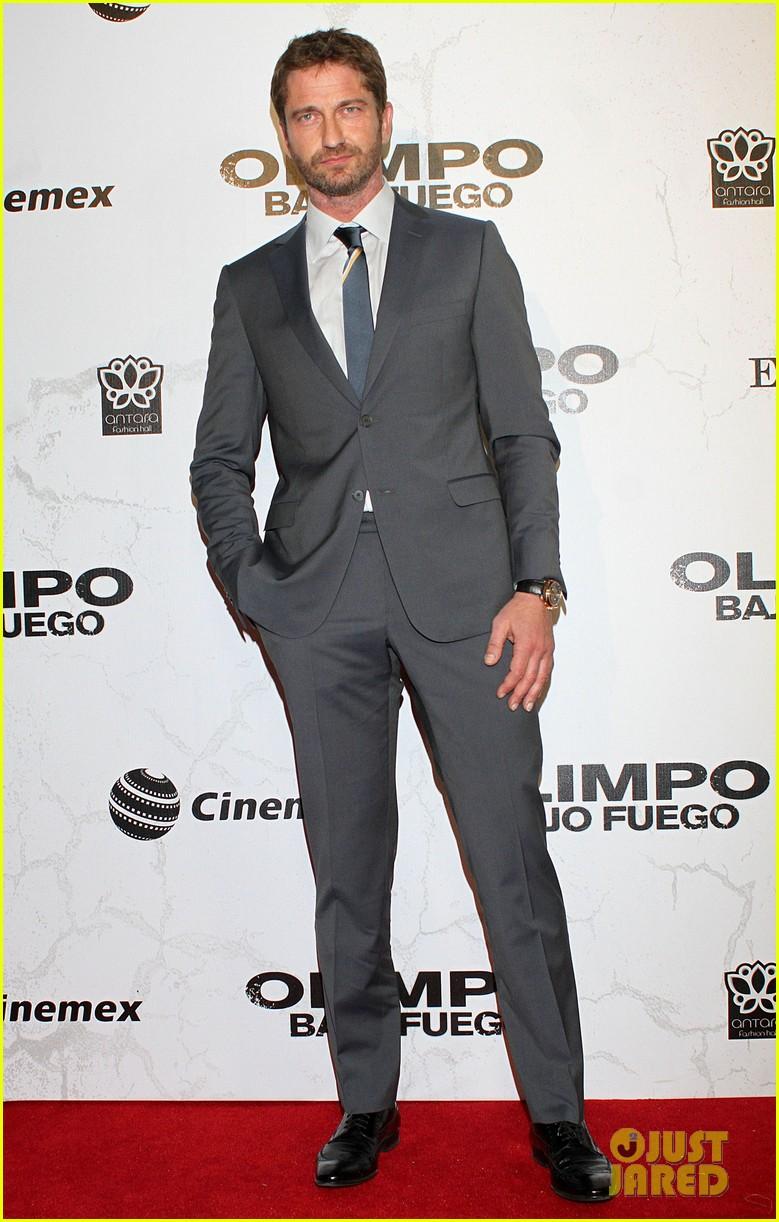 gerard butler olympus has fallen mexico city premiere 022849950