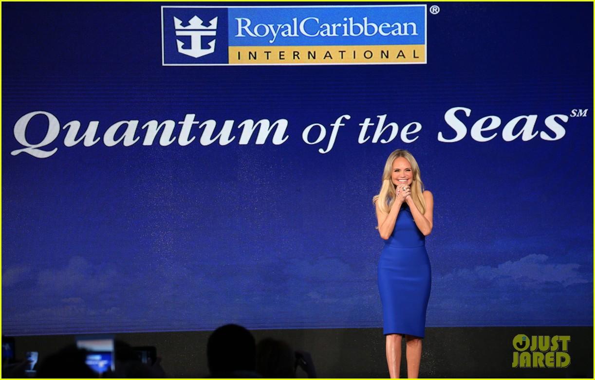 kristin chenoweth royal caribbean ship unveiling 09