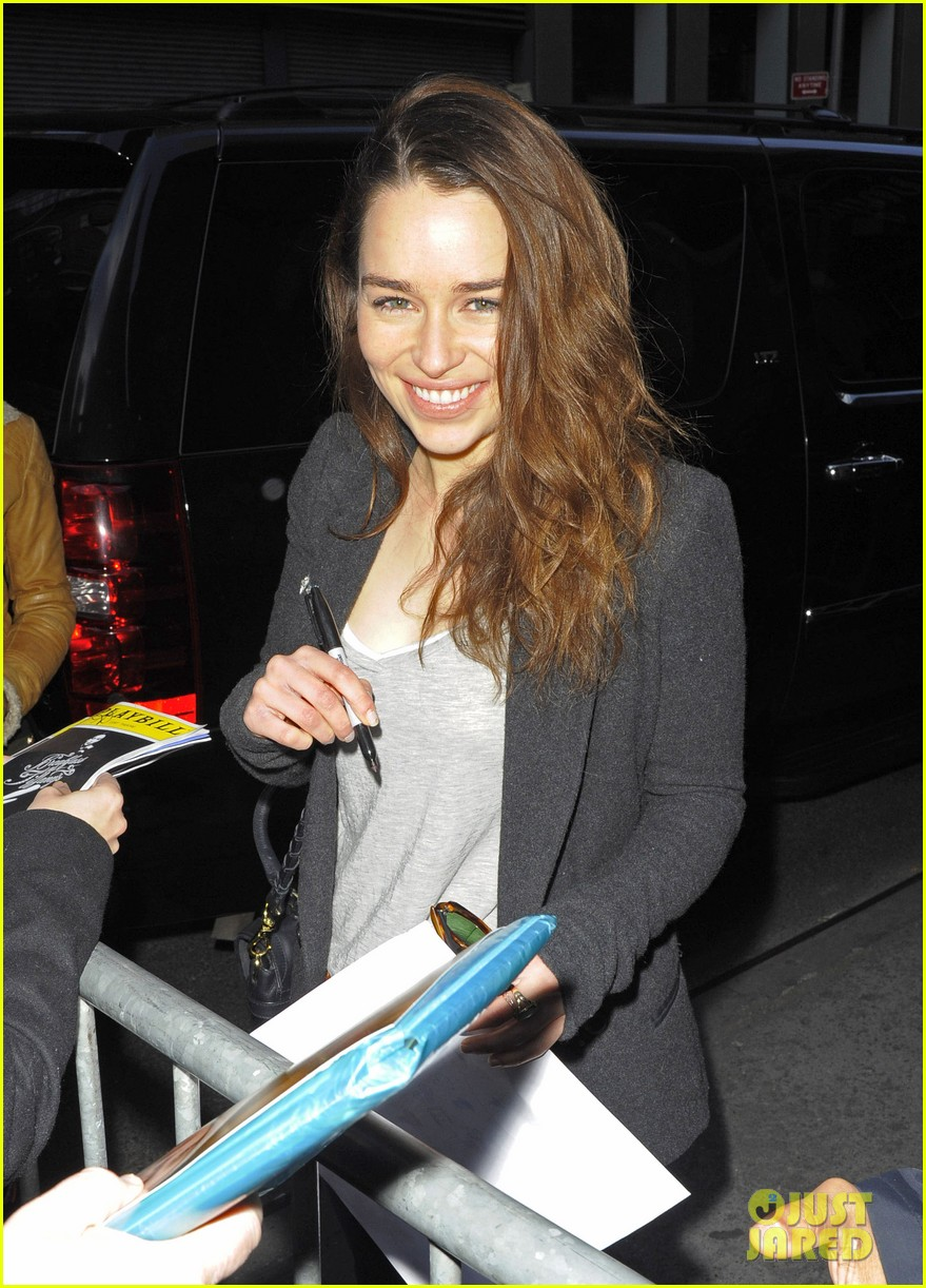 Emilia clarke greets fans at breakfast at tiffanys photo 2845486 emilia clarke greets fans at breakfast at tiffanys photo 2845486 broadway cory michael smith emilia clarke pictures just jared m4hsunfo