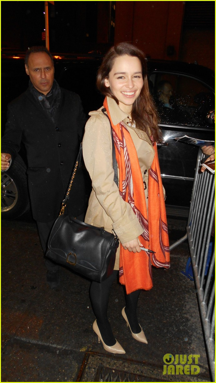 emilia clarke breakfast at tiffanys weekend shows 042850768
