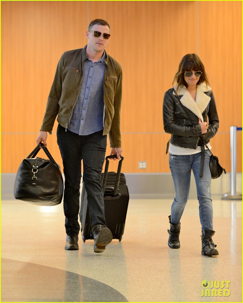 cory monteith first post rehab pics with lea michele 012860359