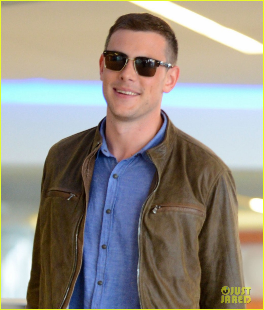cory monteith first post rehab pics with lea michele 022860360