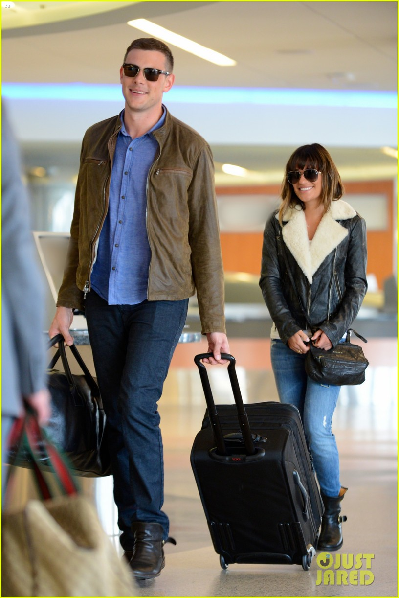 cory monteith first post rehab pics with lea michele 032860361