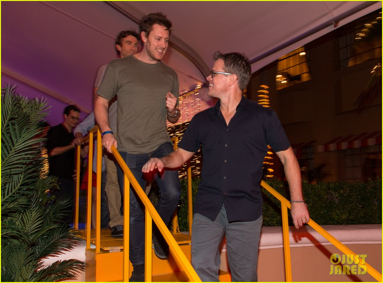 matt damon sharlto copley elysium at summer of sony 122854491