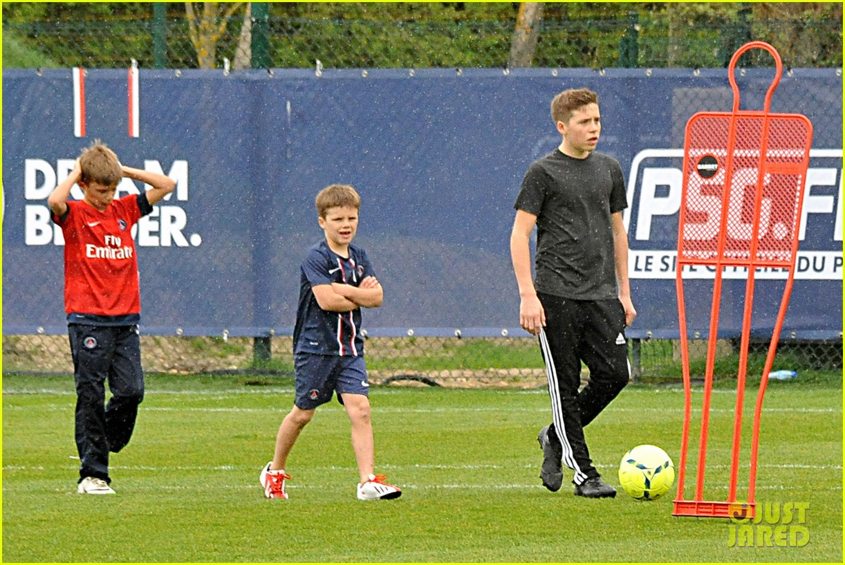 david beckham soccer camp with his sons 062853804