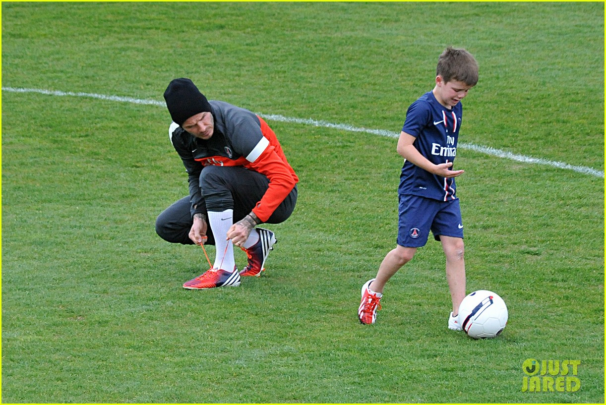 david beckham soccer camp with his sons 072853805