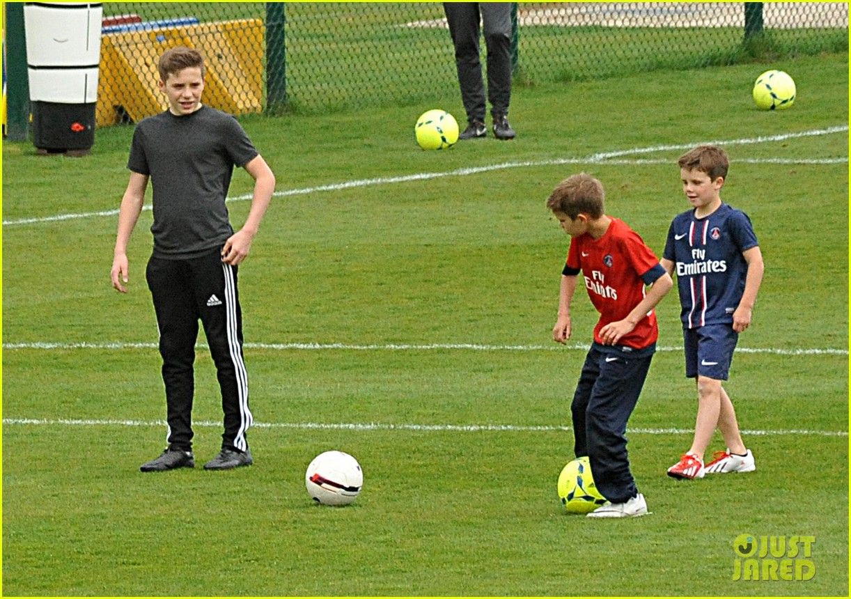 david beckham soccer camp with his sons 082853806