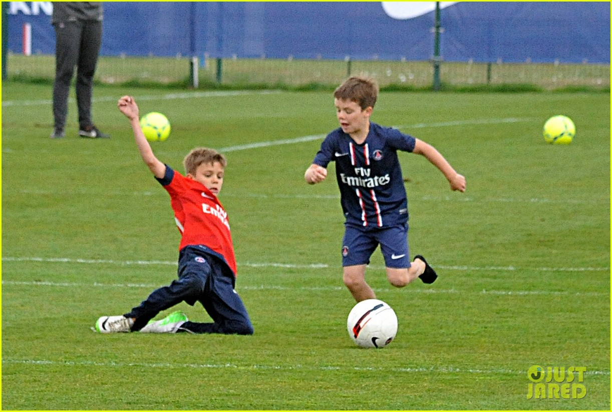 david beckham soccer camp with his sons 092853807