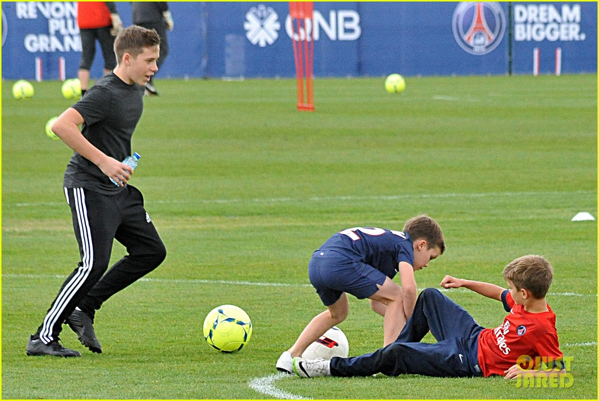 david beckham soccer camp with his sons 10