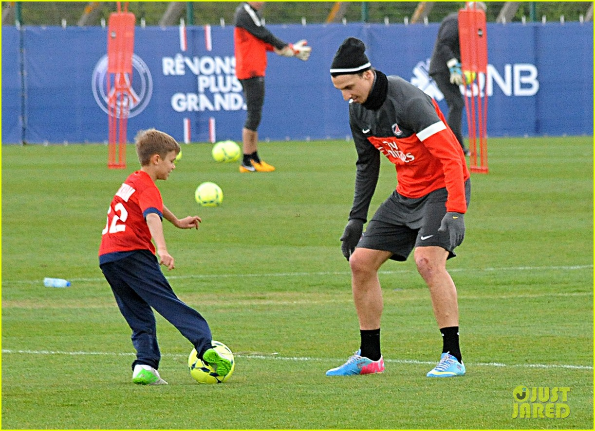 david beckham soccer camp with his sons 112853809