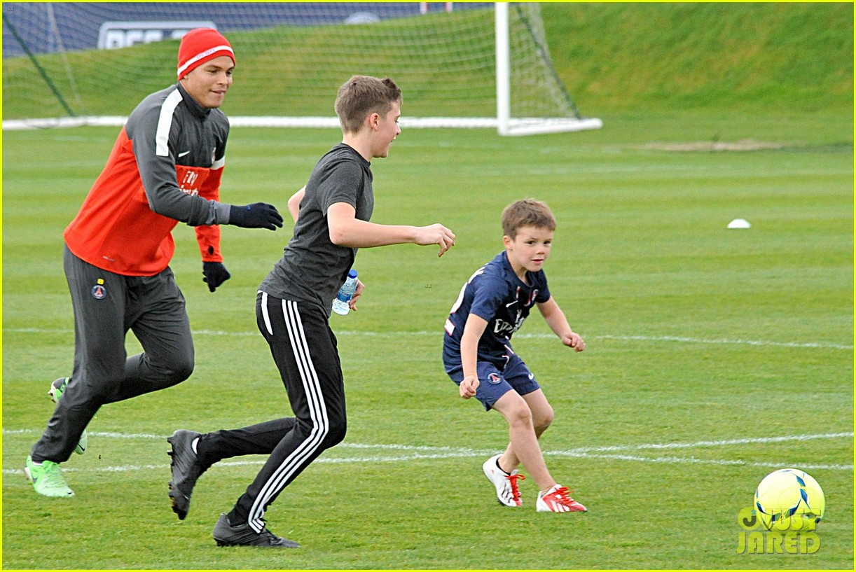 david beckham soccer camp with his sons 142853812