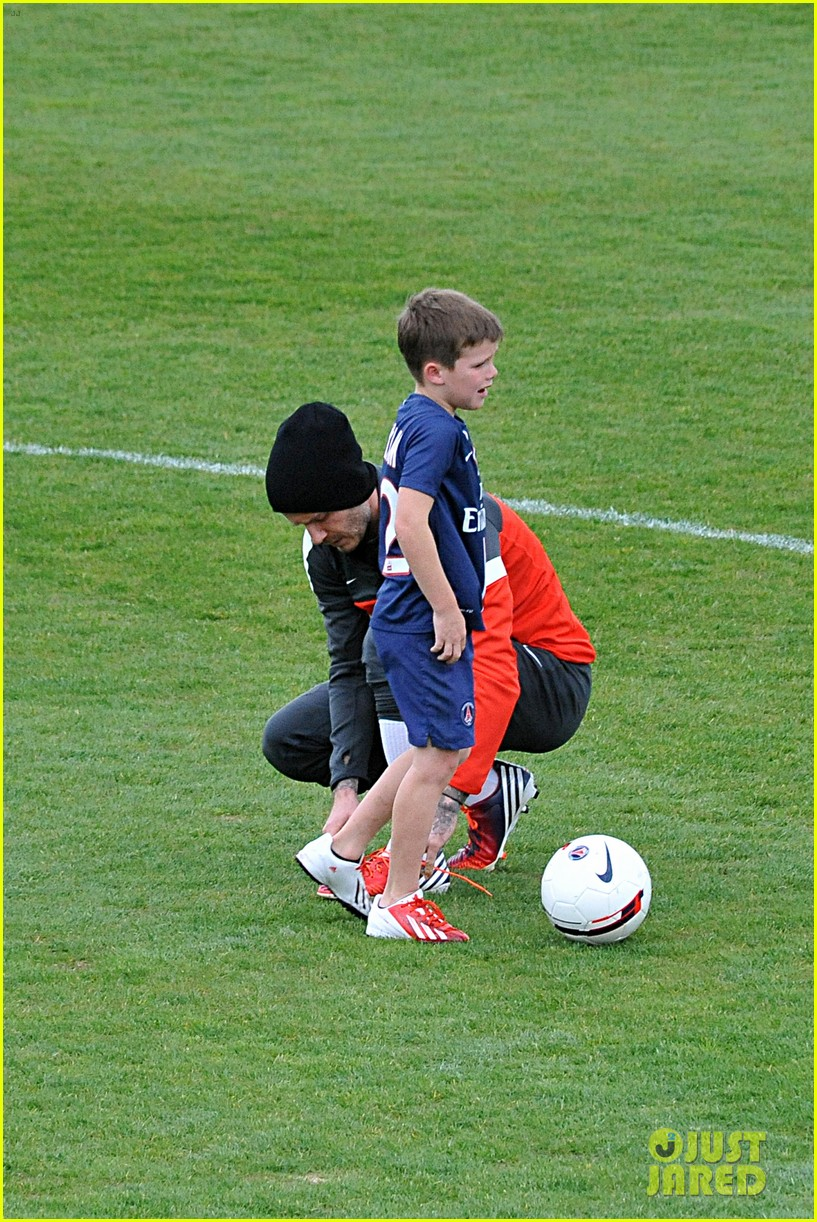 david beckham soccer camp with his sons 152853813