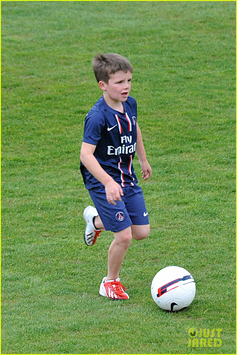 david beckham soccer camp with his sons 17