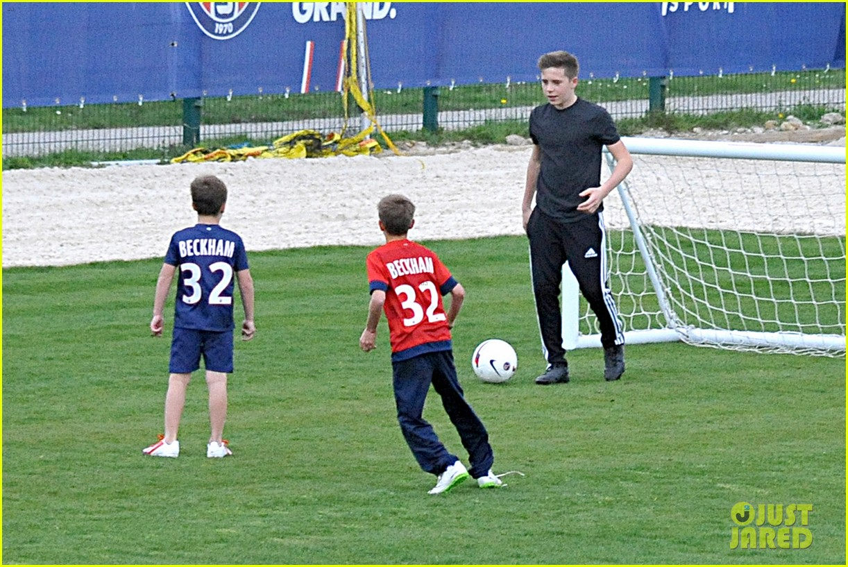 david beckham soccer camp with his sons 212853819