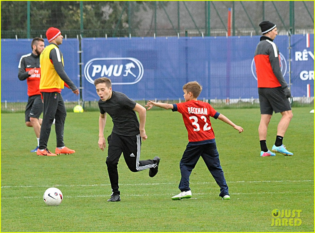 david beckham soccer camp with his sons 222853820