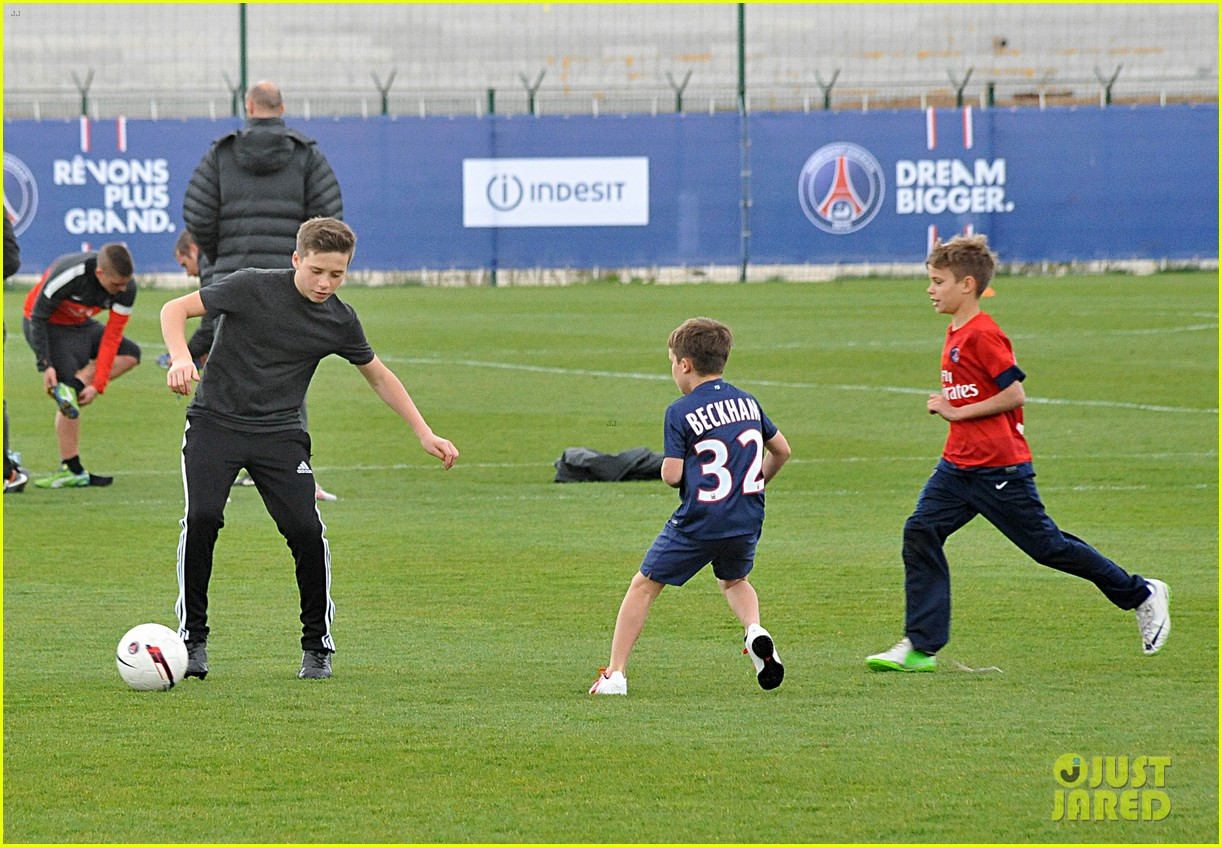 david beckham soccer camp with his sons 252853823