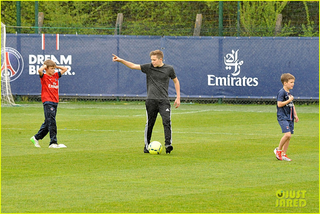 david beckham soccer camp with his sons 312853829