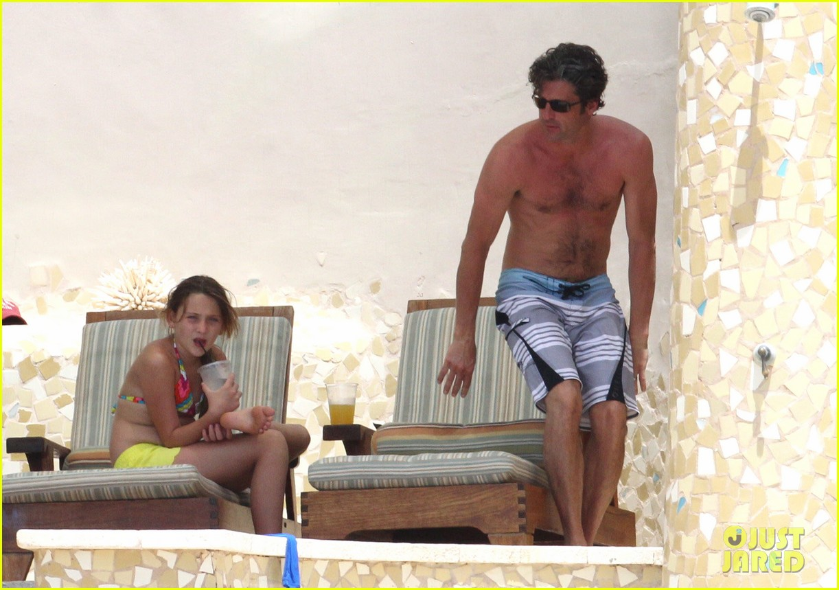 patrick dempsey shirtless mexico vacation with the family 092841325
