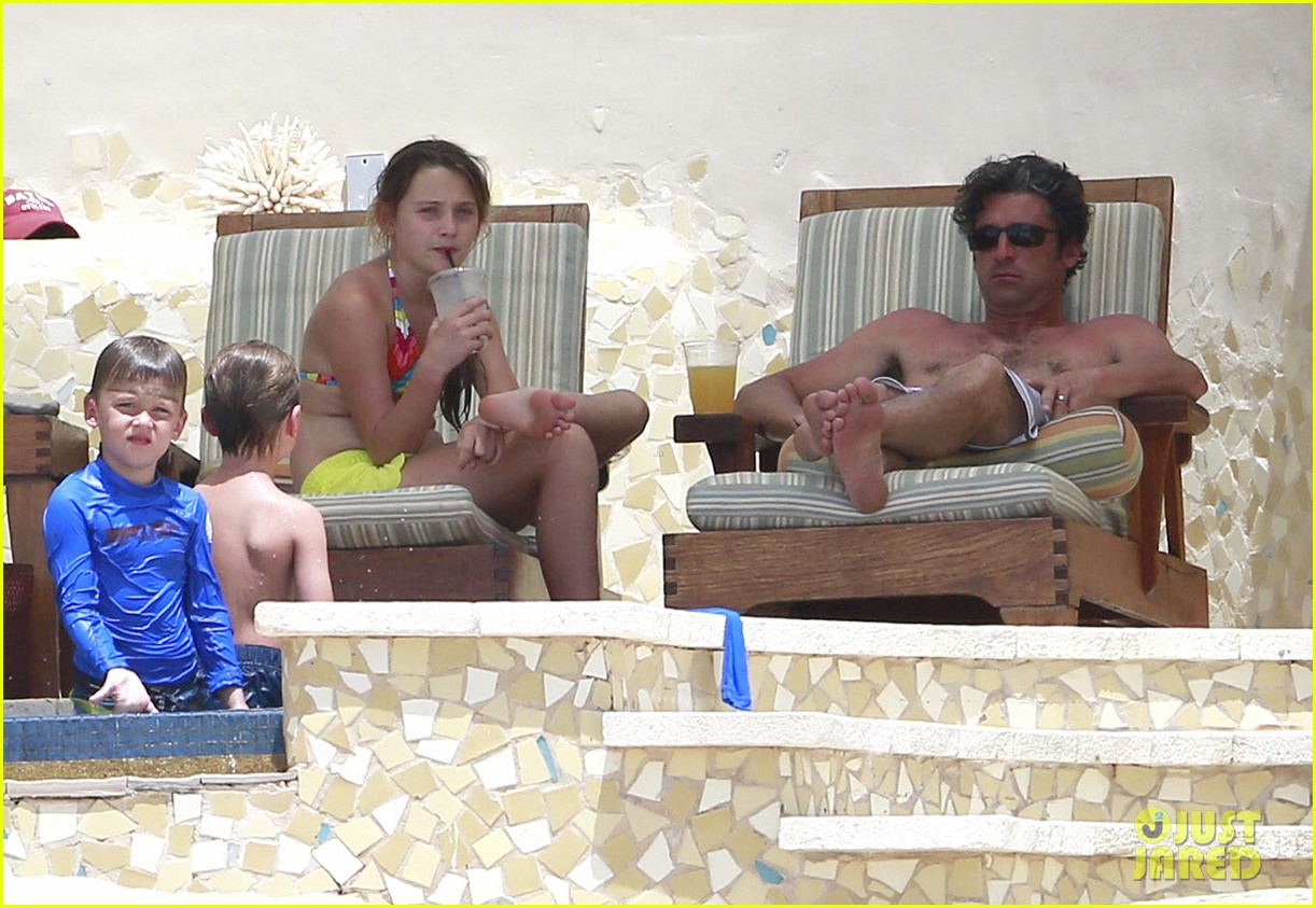 patrick dempsey shirtless mexico vacation with the family 12