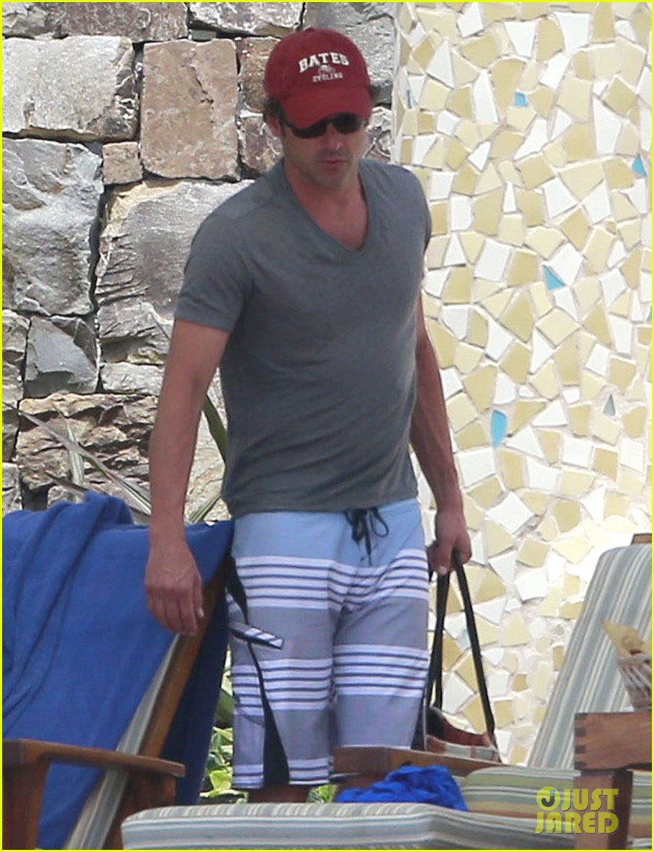 patrick dempsey shirtless mexico vacation with the family 212841337