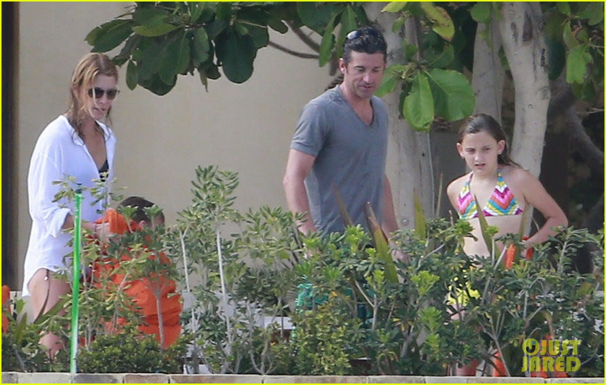 patrick dempsey shirtless mexico vacation with the family 29