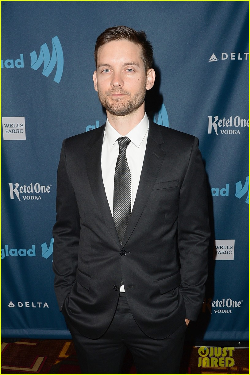 leonardo dicaprio tobey maguire glaad media awards 2013 052854501