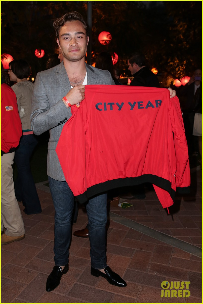 ed westwick jessica szohr city year los angeles fundraiser 2013 032854720