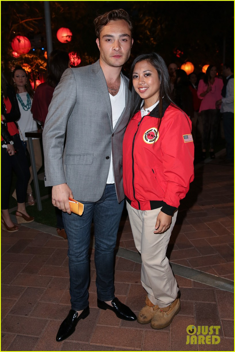 ed westwick jessica szohr city year los angeles fundraiser 2013 062854723