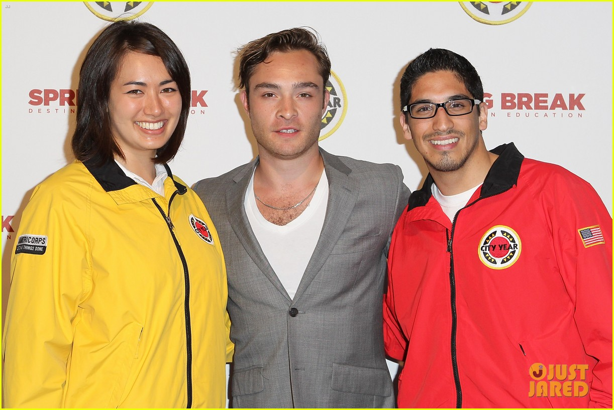 ed westwick jessica szohr city year los angeles fundraiser 2013 132854730