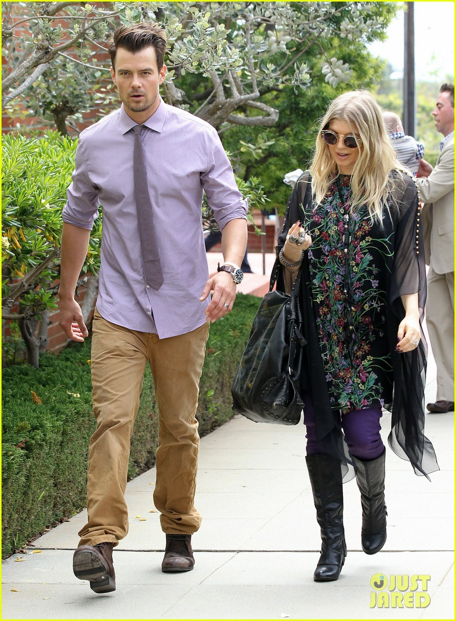 fergie josh duhamel easter sunday church goers 202841116