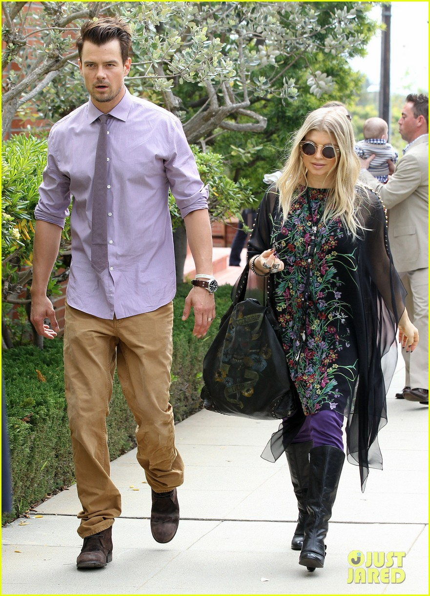 fergie josh duhamel easter sunday church goers 212841117