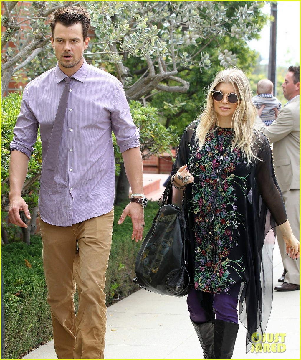 fergie josh duhamel easter sunday church goers 222841118