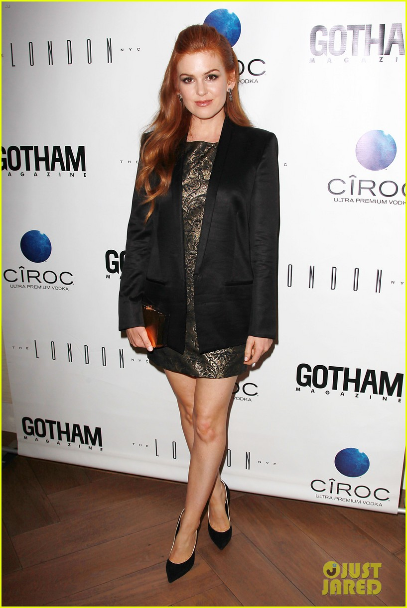 isla fisher gotham magazine cover party 102859026