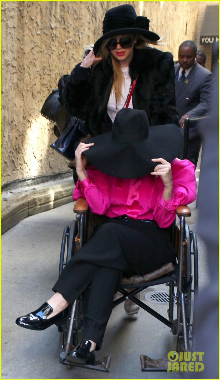 lady gaga wheelchair recovery in nyc 012842707