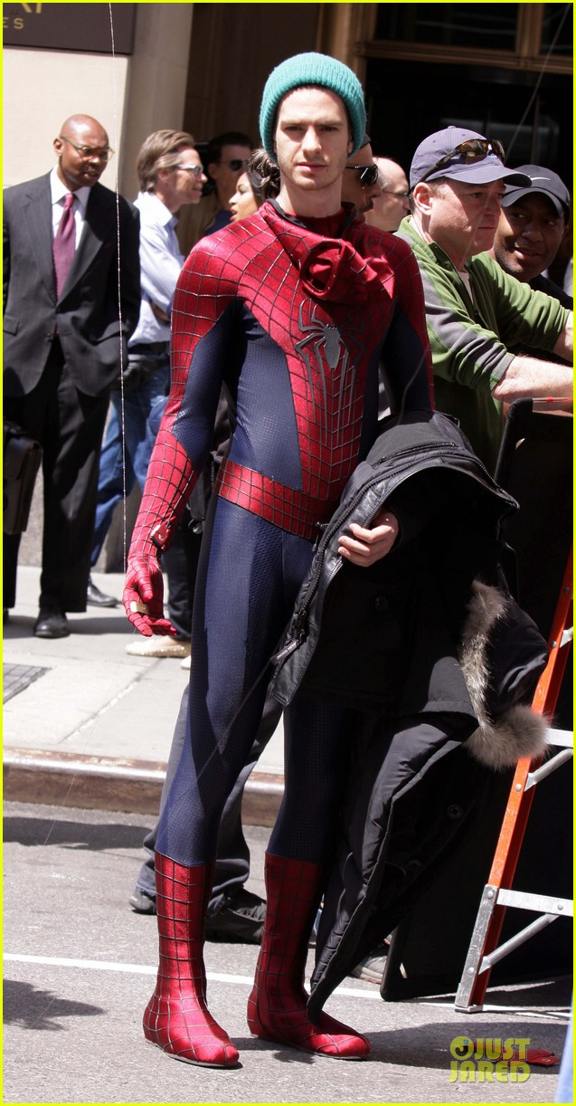 andrew garfield jamie foxx amazing spiderman filming duo 05