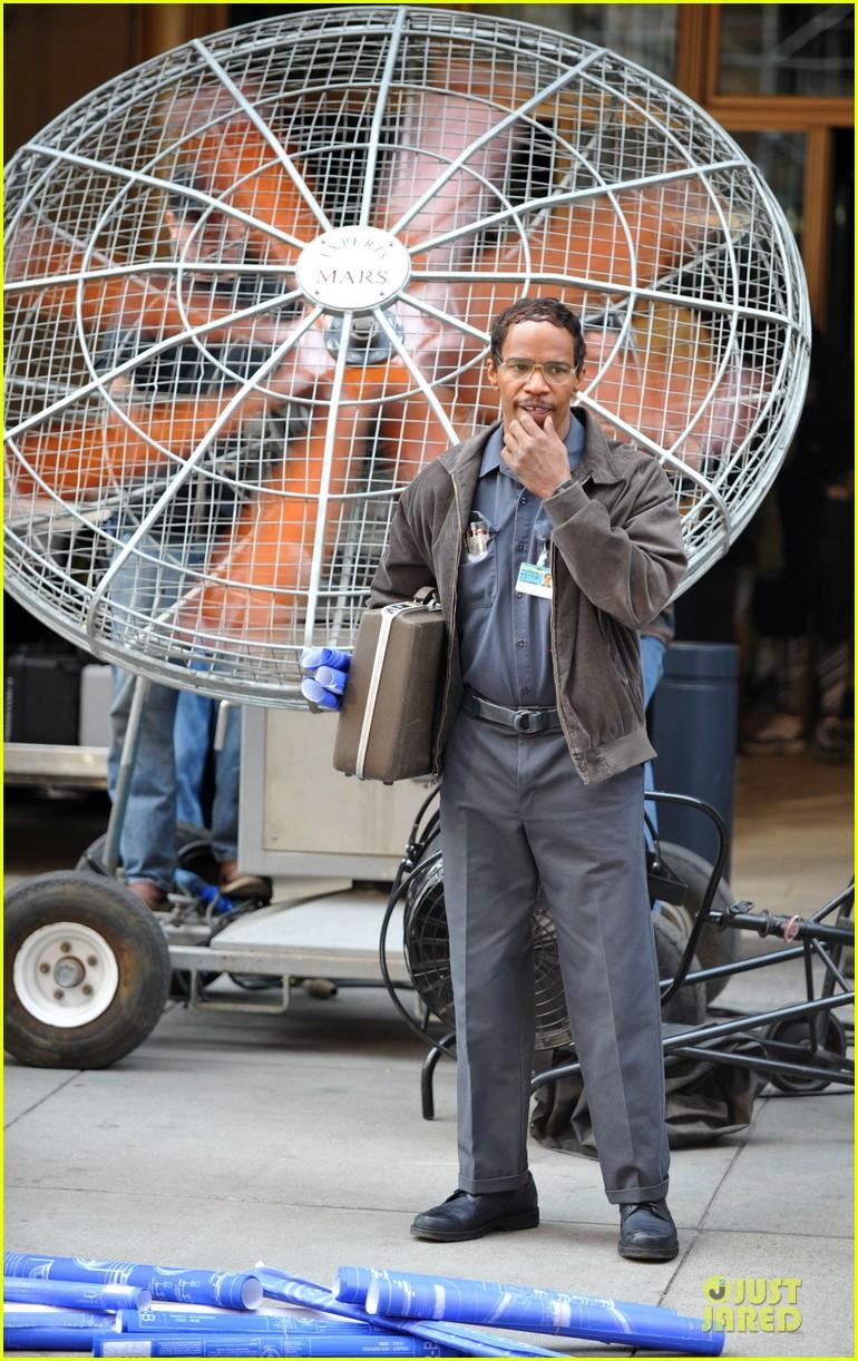andrew garfield jamie foxx amazing spiderman filming duo 092860923