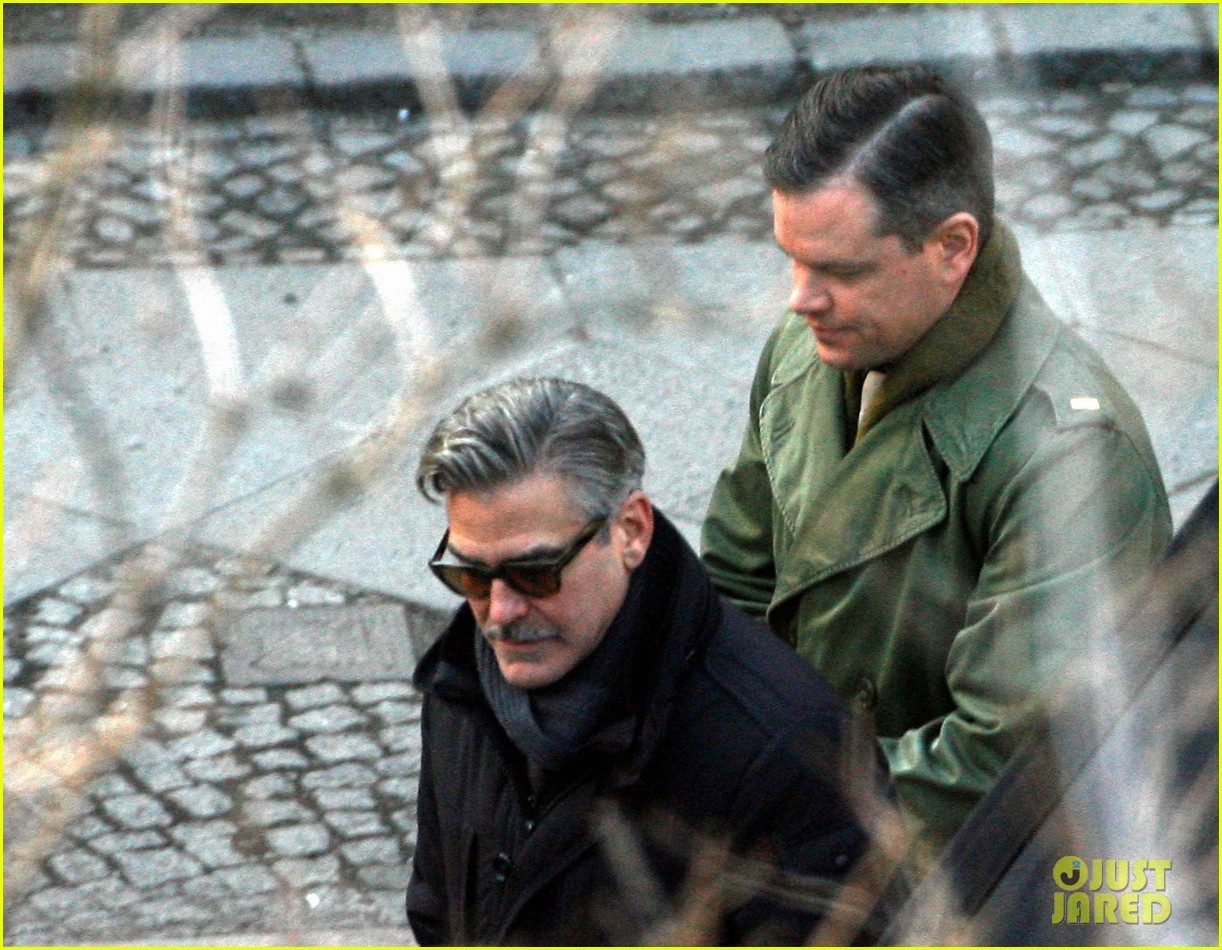 george clooney matt damon the monuments men in berlin 192843286