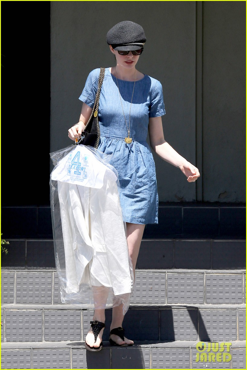 anne hathaway dry cleaning pick up 17