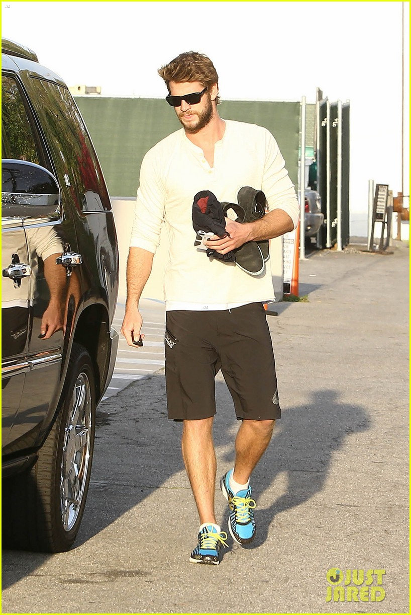 liam hemsworth steps out after the raven casting news 07