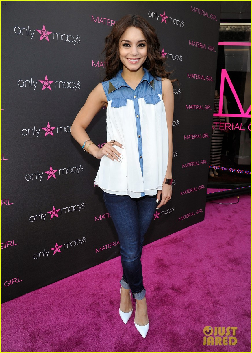 vanessa hudgens scopes madonna costumes at material girl event 012858480