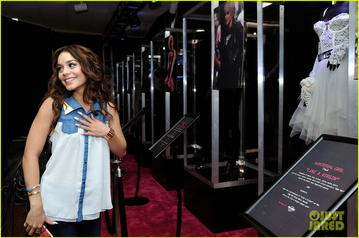 vanessa hudgens scopes madonna costumes at material girl event 062858485
