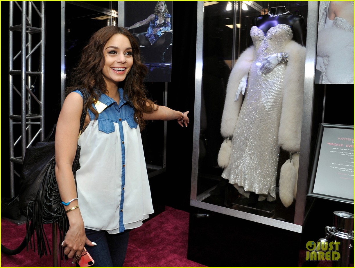 vanessa hudgens scopes madonna costumes at material girl event 072858486