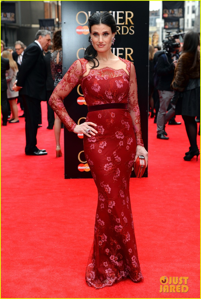 idina menzel 2013 olivier awards red carpet performance 04