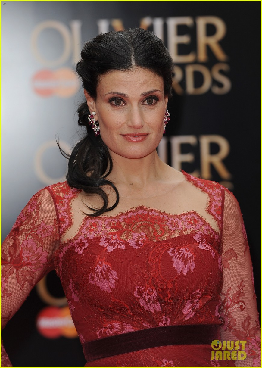 idina menzel 2013 olivier awards red carpet performance 052860326