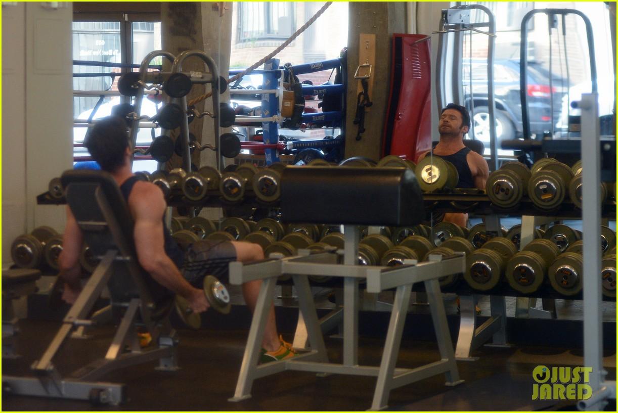 hugh jackman bulging bicep workout 142847035