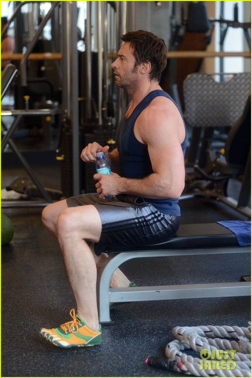 hugh jackman bulging bicep workout 212847042