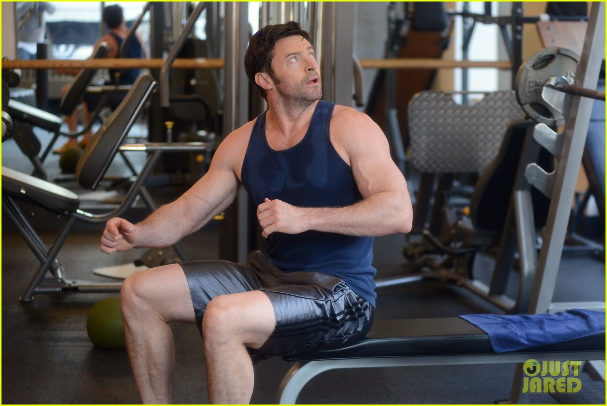 hugh jackman bulging bicep workout 242847045