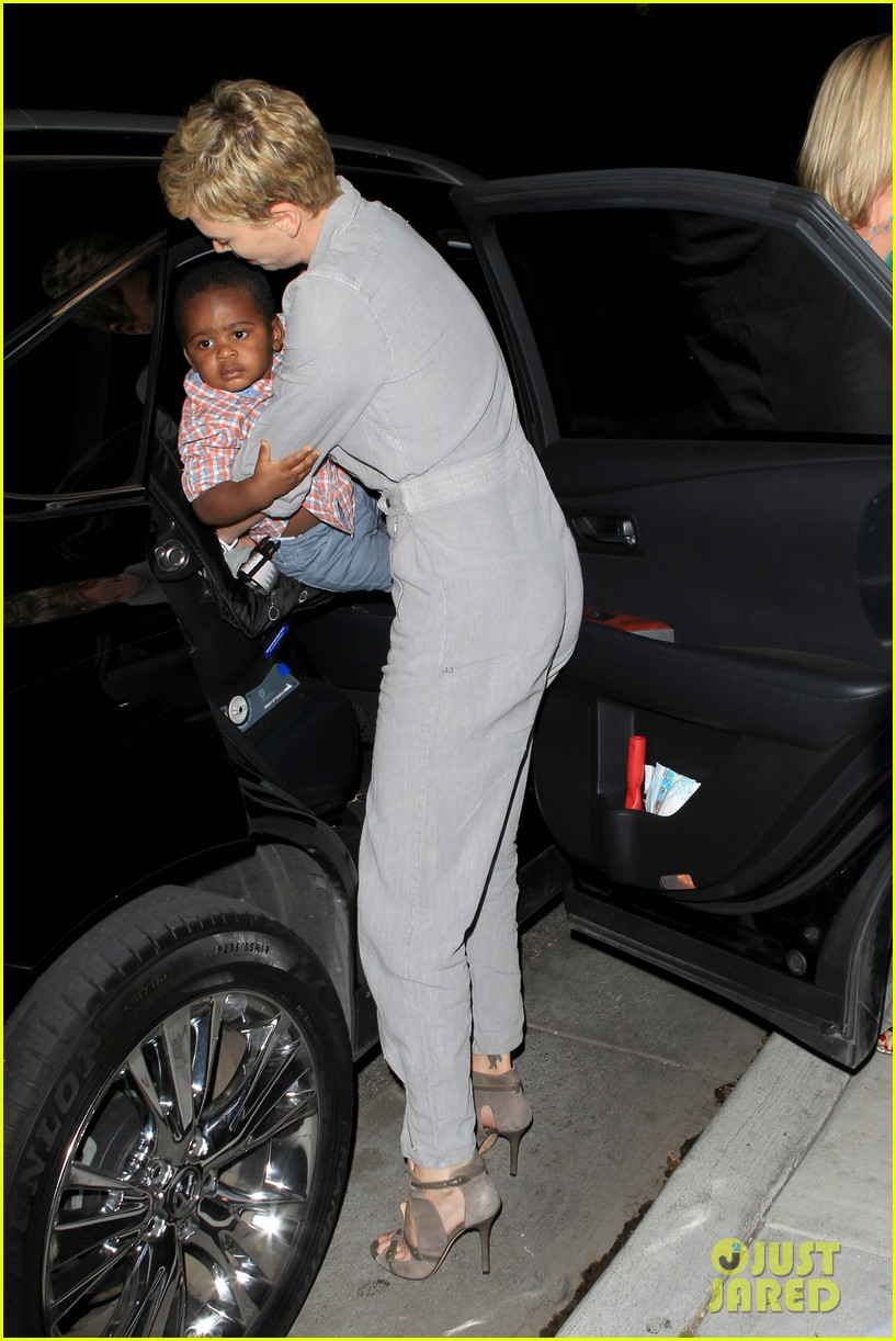 charlize theron rocks jumpsuit for dinner with jackson 032860600