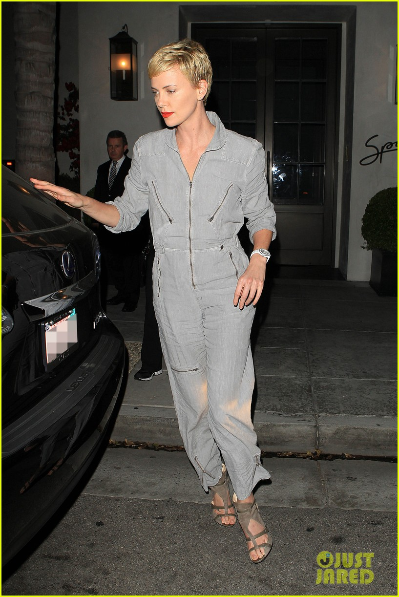 charlize theron rocks jumpsuit for dinner with jackson 052860602